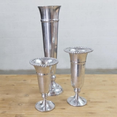 Where to rent VASE, SILVER BEADED TRIM 12 in Camarillo CA