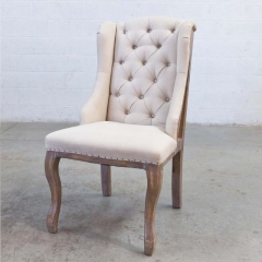 Where to rent LOUNGE, CHAIR TUFTED LINEN BURLAP in Camarillo CA