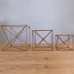 Where to rent CENTERPIECE, MODERN GOLD CUBE  6 in Camarillo CA
