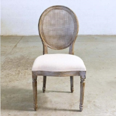 Where to rent LOUNGE, CHAIR CANE ROUND LINEN SEAT in Camarillo CA