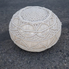 Where to rent LOUNGE, POUF MACRAME IVORY in Camarillo CA