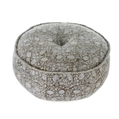 Where to rent LOUNGE, POUF GREY BLOOM BLOCK PRINT in Camarillo CA